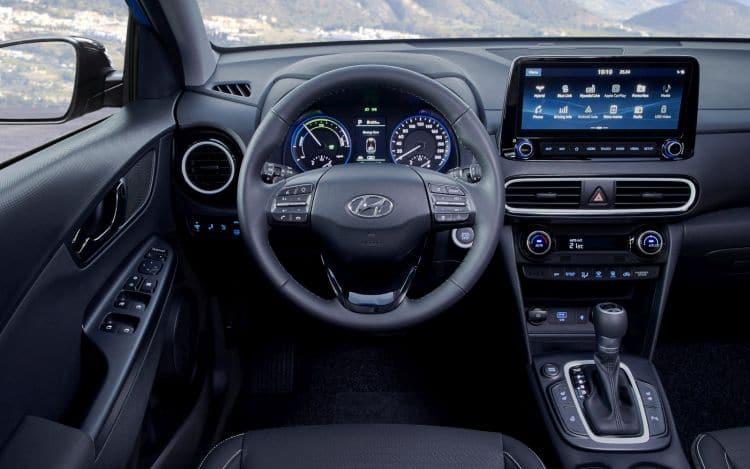 Hyundai Kona Hybrid wnętrze